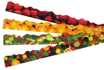 Healthy Eating Discovery Border Trimmers - Assorted - 4 x 12 x 1m Strips - Themed Pack
