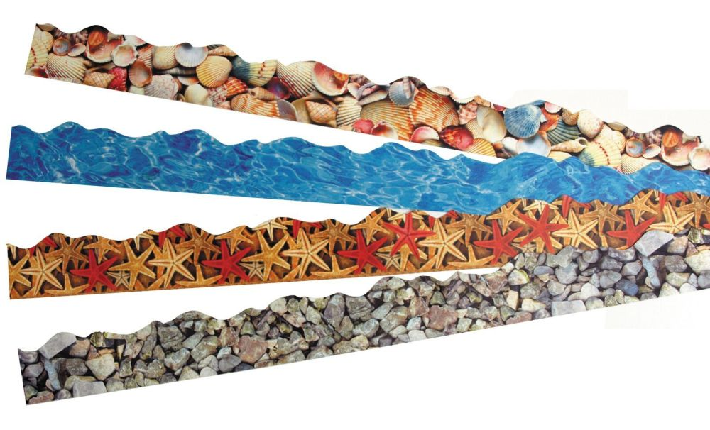 Seaside Discovery Border Trimmers - Assorted - 4 x 12 x 1m Strips - Themed
