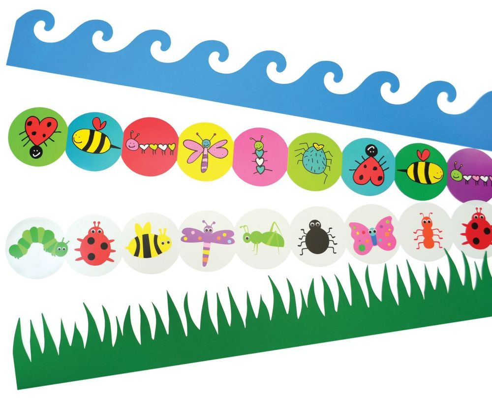 Outdoors Die Cut Border Trimmers - Assorted - 4 x 12 x 900mm Strips - Value