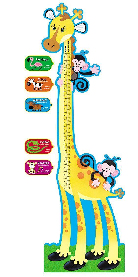 Giraffe Growth Chart Bulletin Set - 1.8m - Pack of 8 pieces