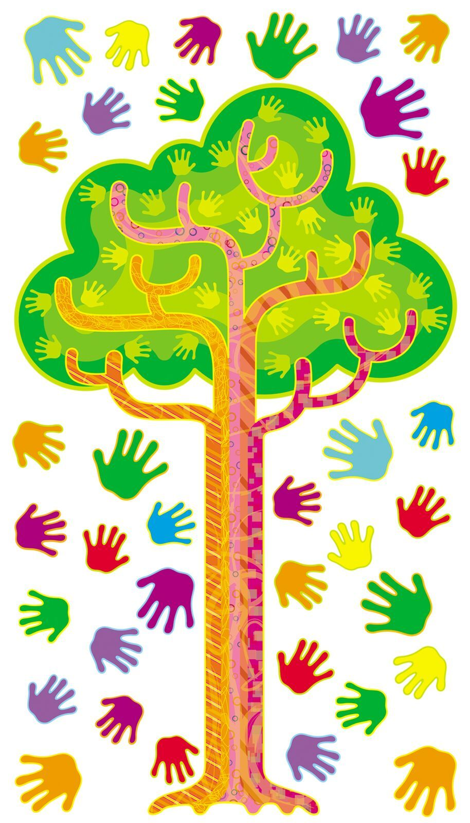 Hands in Harmony Learning Tree Bulletin Set - 1.2m - Pack of 52 pieces