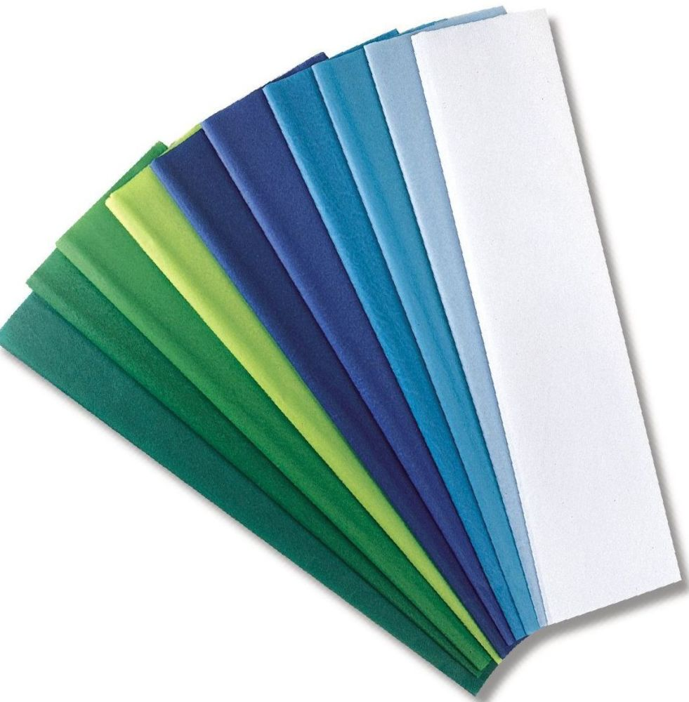 Cool Coloured Tissue Paper - Assorted - 508 x 762mm - Pack of 10 sheets