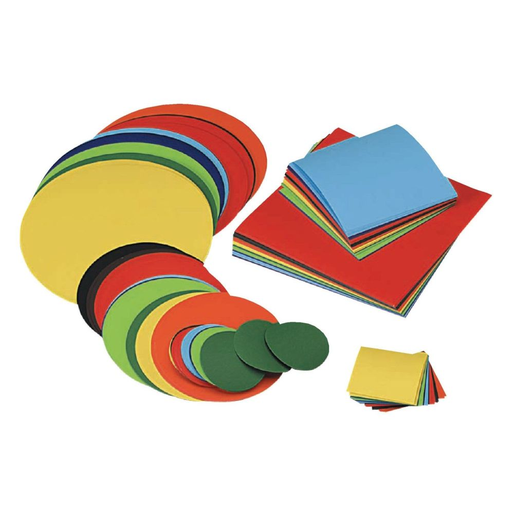 Gummed Circles - Assorted Colours & Sizes - Pack of 300