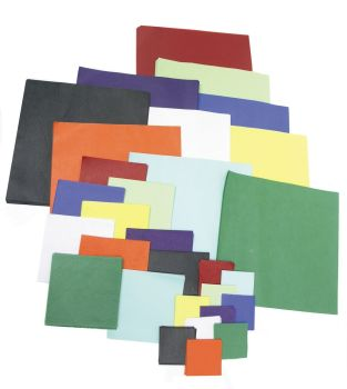 Tissue Paper Squares - Assorted Colours & Sizes - 18g - Pack of 1440