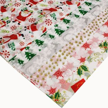 Christmas Printed Tissue Paper - Assorted - 500 x 660mm - Pack of 12