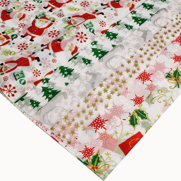 Christmas Printed Tissue Paper - Assorted - 50 x 66cm - Pack of 12