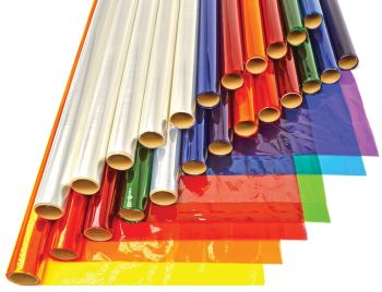 Coloured Cellophane Class Pack - Assorted - 508mm x 4.5m - Pack of 24