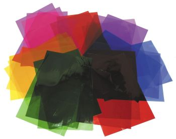 Cellophane Transparent Film Sheets - Assorted - 210 x 297mm - HE475845 - Pack of 48