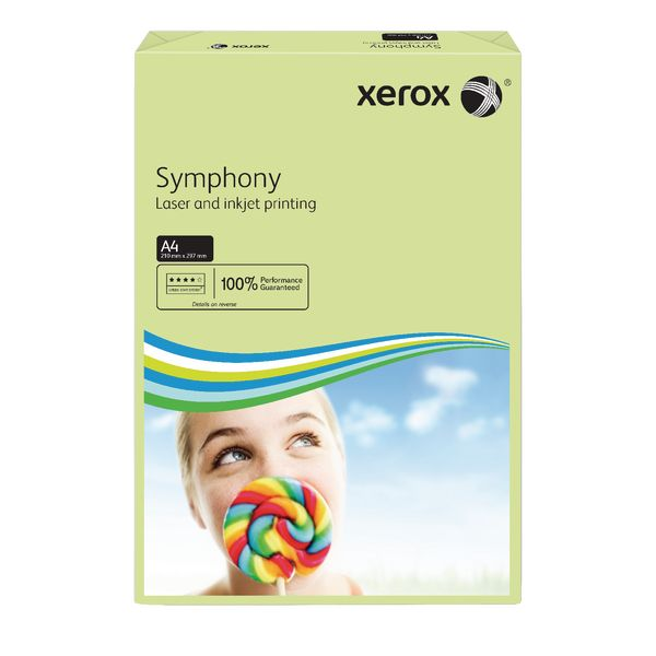 A4 Xerox Symphony Pastel Green Paper - 80gsm - 210 x 297mm - Pack of 500