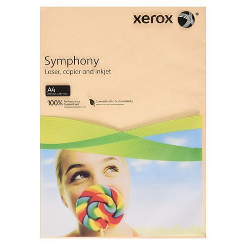 A4 Xerox Symphony Pastel Salmon Paper - 80gsm - 210 x 297mm - Pack of 500