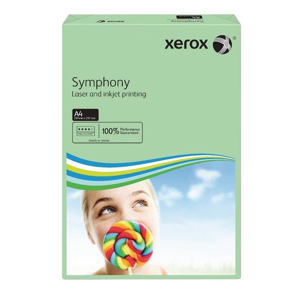 A4 Xerox Symphony Mid Green Paper - 80gsm - 210 x 297mm - Pack of 500