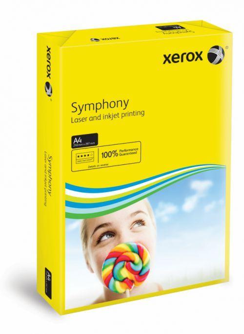 A4 Xerox Symphony Dark Yellow Card - 200 microns/160gsm - 210 x 297mm - Pac
