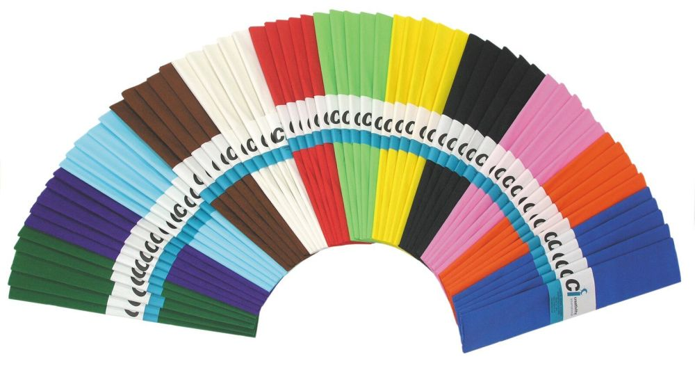 Crepe Paper Folds - Assorted - 500mm x 3m - Pack of 25
