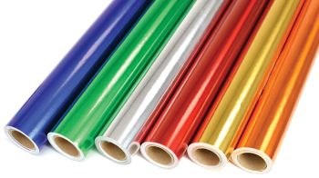 Metallic Paper Backed Foil Rolls - Assorted - 500mm x 4.5m - HE479355 - Pack of 6