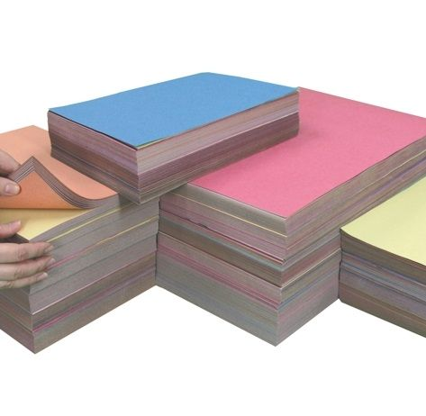 Sugar Paper Stack - 1500 x A4, 750 x A3  & 500 A2 Assorted Sheets - Pack of