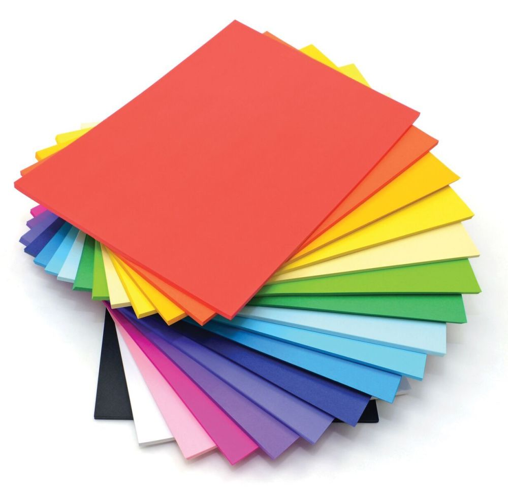 A4 Lightweight Card Stack - Assorted - 125g - 210 x 297mm - Pack of 500
