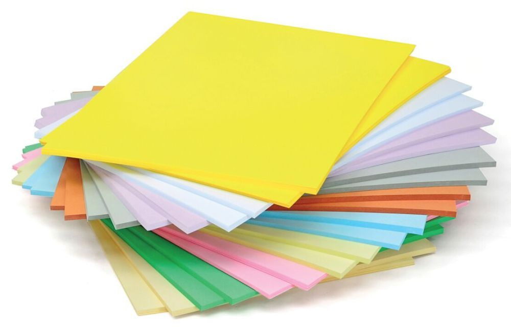 Lightweight Pastel A4 Card Stack - Assorted - 125g - 210 x 297mm - Pack of