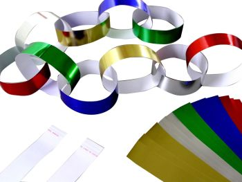 Metallic Paper Chains - Assorted - 2 x 20cm - BI2018 - Pack of 100