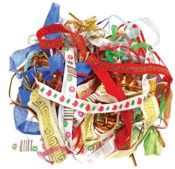 Metallic Festive Ribbons - Assorted - 29091-CI-101 - 100g Bag - Each