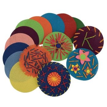 Binca Circles - Assorted - 12.5cm - Pack of 50