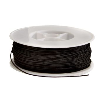 Black Narrow Elastic Reel - 100m - Each