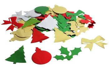 Christmas Metallic Shapes - Assorted - BI1035 - 30g Bag - Each