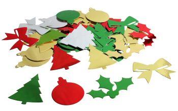 Christmas Metallic Shapes - Assorted - 30g Bag - Each