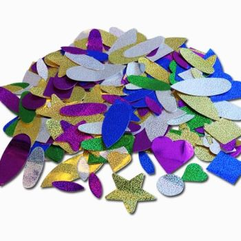 Self Adhesive Holographic Stickers - Assorted - 100g Bag - Each