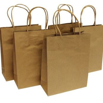 Kraft Bags - 18 x 8 x 23cm - Pack of 5