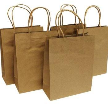 Kraft Bags - 18 x 8 x 23cm - Pack of 5