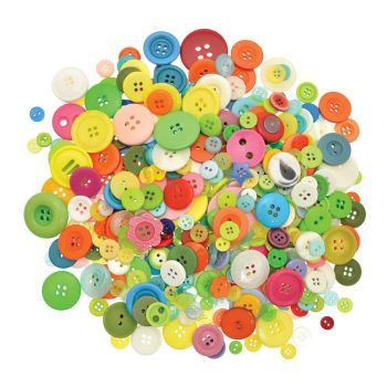 Buttons - Assorted - L-BU4510 - 500g Bag - Each