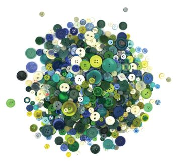 Cool Colour Buttons - Assorted - 500g Bag - Each