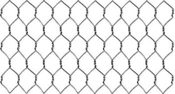 Galvanised Steel Wire Netting - Hole Size 2.5 x 4cm - 10m Roll - Each