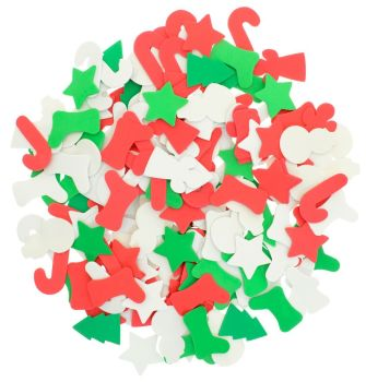 Festive Foam Shapes - Assorted - Pack of 200