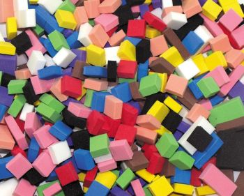 Eva Foam Mosaic Tiles - Assorted - 10mm - Pack of 500