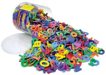 Eva Foam Letters & Numbers - Assorted - 4-5cm - Tub of 1500