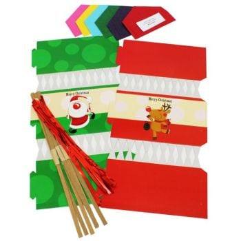 Christmas Cracker Kit - includes everything but the gift - Assorted - BI0406 - Pack of 6