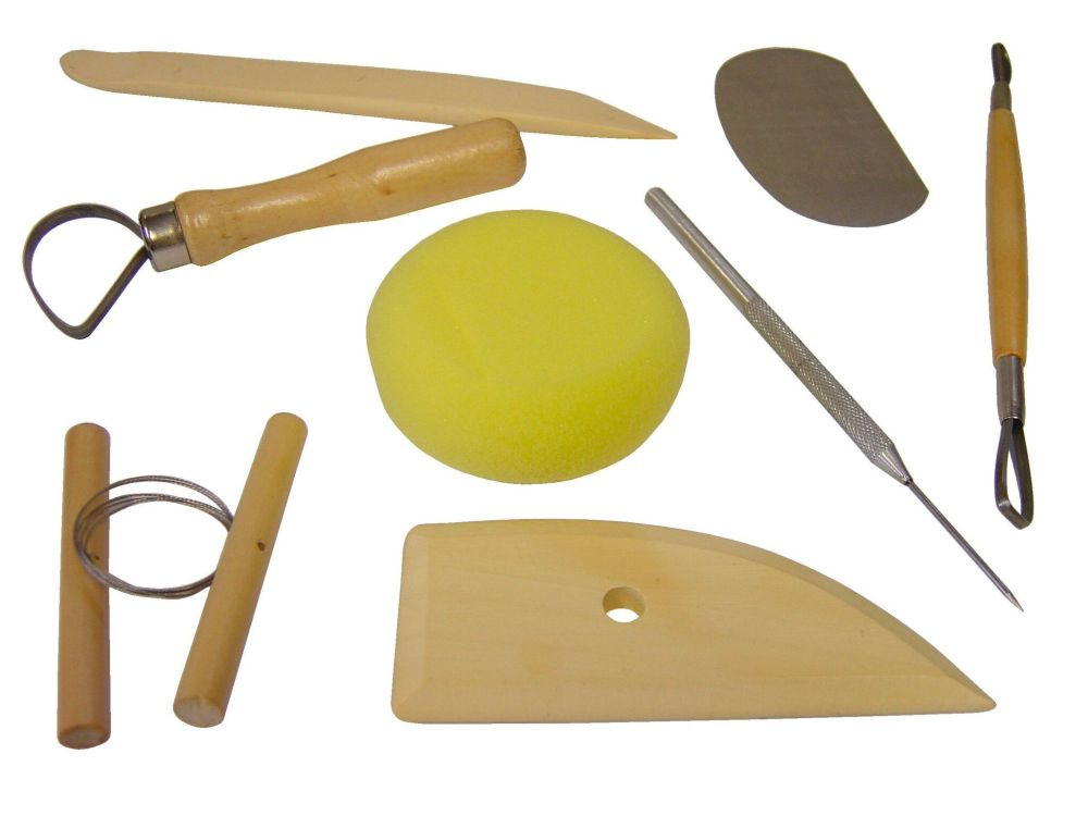 Pottery Tool Set - Assorted - Pack of 8