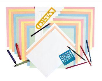 Pastel Newsprint Art Paper - Assorted - 228 x 305mm - 50gsm - Pack of 500