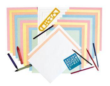 Pastel Newsprint Art Paper - Assorted - 305 x 457mm - 50gsm - Pack of 500