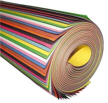 Giant Assorted Koloroll Construction Paper Roll - 609 x 914mm - Pack of 50