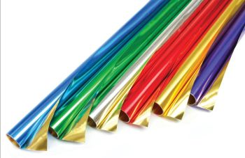 Double Sided Foil Rolls - Assorted - 50 x 80cm - HE209943 - Pack of 6