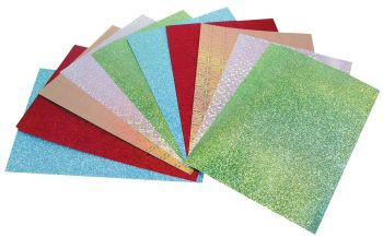 Holographic A4 Card - Assorted - 210 x 297mm - 370microns/270gsm - Pack of 10