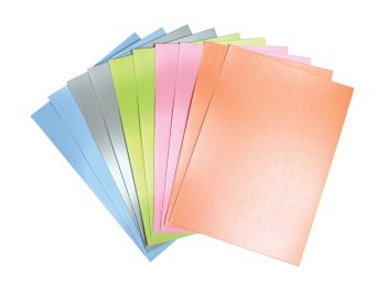 Pearlescent A4 Card - Assorted - 230microns/175gsm - 210 x 297mm - Pack of 50