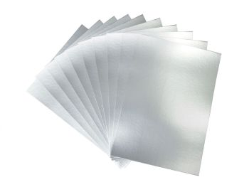 Silver A4 Card - Assorted - 230microns/175gsm - 210 x 297mm - Pack of 50