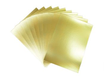 Gold A4 Card - Assorted - 230microns/175gsm - 210 x 297mm - Pack of 50
