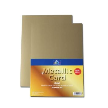 Gold A4 Card - Assorted - 280microns/225gsm - 210 x 297mm - Pack of 20