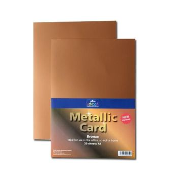 Bronze A4 Card - Assorted - 280microns/225gsm - 210 x 297mm - Pack of 20