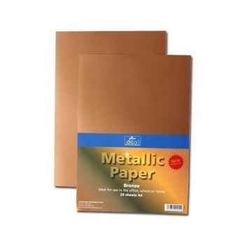 Matt Bronze Metallic A4/210 x 297mm Paper - Assorted - 175microns/135gsm - BI0125 - Pack of 20