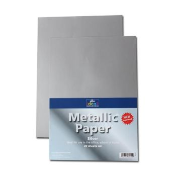Silver A4 Paper - Assorted - 175microns/135gsm - 210 x 297mm - Pack of 20